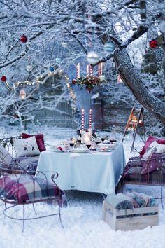 Christmas lunch in the garden! | Susie Watson Designs