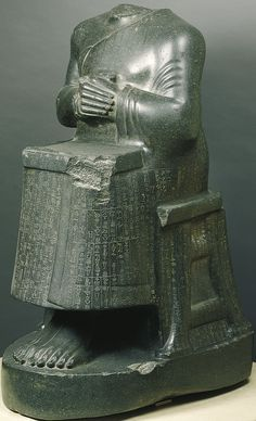 Gudea Ruler of Lagash as a builder with plan, made for the temple of Geshtinana at Girsu, c.2100 B.C.