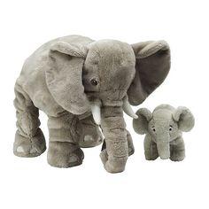 Ikea Leddjur Adorable Elephant Soft Plush Toys, Large Stuffed Animals, Mommy & Baby, Set of 2 Large Stuffed Animals, Elephant Stuffed Animal, Toddler Toys, Baby Toys, Kids Toys, Children's Toys, Ikea, Mom And Baby Elephant, Elephant Elephant