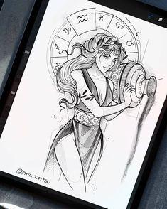 Zodiac Art, Scorpio Zodiac, Zodiac Signs, Art Sketches, Art Drawings, Desenho Tattoo, Summer Art, Art Girl, Painting & Drawing