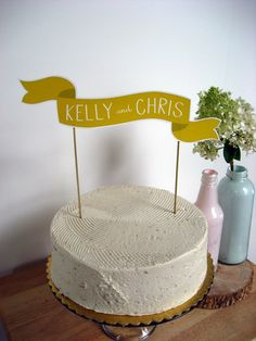 So cute! Custom Cake Banner available in a few colors. $18