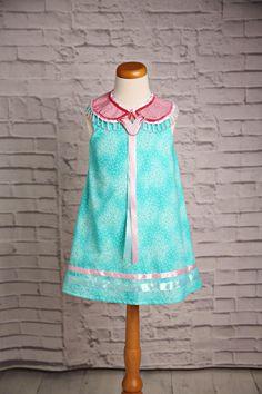 My daughter's ribbon dress & yoke. Made by Niio Perkins