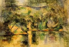 paul cezanne reflections in the water paintings