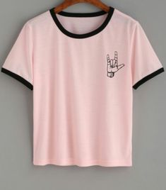 Pastel pink shirt. (Pastel goth)