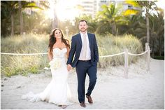 South Beach Wedding Portraits Florida Photography Palm