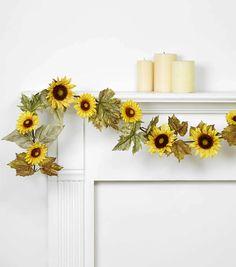 Blooming Autumn Sunflower Garland