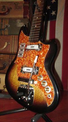 1967 Zen-On Electric Solidbody Double Pickup Electric Sunburst > Guitars : Electric Solid Body - Rivington Guitars | Gbase.com