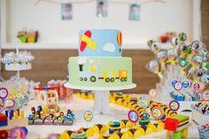 Gabriel 1 ano 2 Gabriel 1 ano | Festa infantil | Decoração meios de transporte