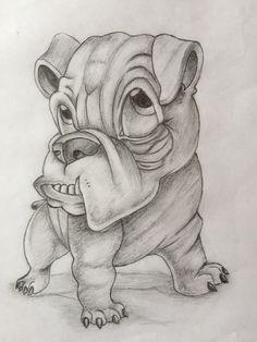 Cartoon Tattoos, Dog Tattoos, Cartoon Drawings, Cartoon Art, Art Drawings Sketches Simple, Animal Sketches, Animal Drawings, Cute Drawings, Graffiti Drawing