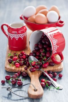 Cranberries and thyme.