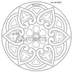 Dot Art Painting, Mandala Painting, Painting Patterns, Stone Painting, Embroidery Cards, Sashiko Embroidery, Embroidery Patterns, Mandala Dots, Mandala Pattern