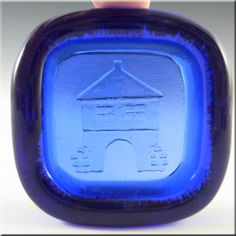 PLUS Glashytta 1970s Blue Glass Bowl - Richard Duborgh - £14.99