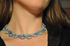 Bow Tatted Necklace Step By Step (Needle tatting)
