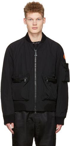 MONCLER Black Down Bomber Jacket. #moncler #cloth #jacket
