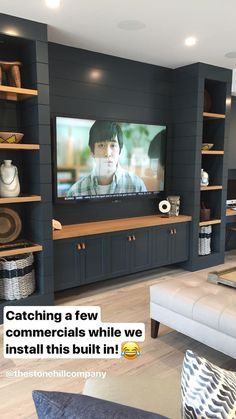 Living Room Tv Wall Entertainment Center Television 47 Super Ideas Some house. - Trend Home Entertainment 2020 Living Room Built Ins, Living Room Tv, Tv Wall Ideas Living Room, Living Room Cabinets, Living Room Remodel, Ruang Tv, Wall Entertainment Center, Muebles Living, Basement Renovations
