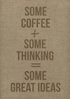 Coffee + Thinking = Ideas :-)