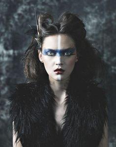 Warrior Women, Tribal Warrior, Warrior Queen, Warrior Girl, Warrior Makeup, Warrior Princess Makeup, Tribal Costume, Deer Costume, Costume Faces
