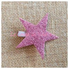 www.lacasitadevaleria.es estrella glitter rosa Glitter Rosa, Tela, Bobby Pins, Stars, Tejidos