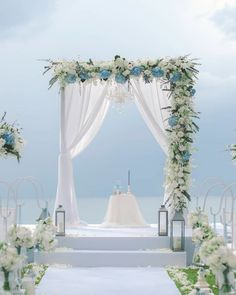 39 Gorgeous Beach Wedding Decoration Ideas ❤ beach wedding decoration ideas lanterns arch flowers #weddingforward #wedding #bride