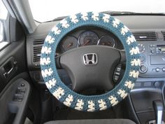 Crochet+Steering+Wheel+Cover+Wheel+Cozy+teal+by+ytang+on+Etsy,+$25.00