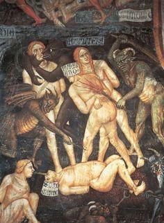 Inferno (Ausschnitt) von Taddeo di Bartolo, 1396.-Arte Excéntrico