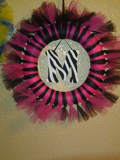 Zebra girl wreath by Motherstouchbowitque on Etsy, $35.00