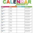 Girl scouts words and word doc on pinterest for Girl scout calendar template