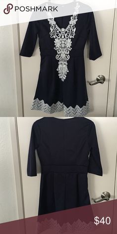 Beautiful navy colored boutique dress Size small, navy, new without tags (not Zara) Zara Dresses Midi