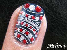 Pin Now Watch Later: Retro Sailor dot Nail Art Video Using Stamping Nail Art