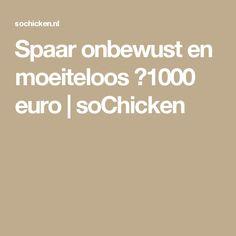 Spaar onbewust en moeiteloos €1000 euro | soChicken