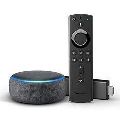 Fire Tv Stick 4k Mit Alexa Sprachfernbedienung Echo Dot 3 Gen Elektroniken Stoffe