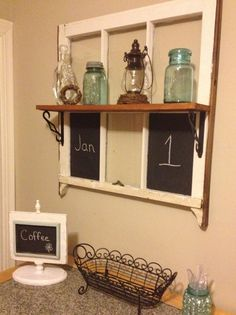 Hey, I found this really awesome Etsy listing at https://www.etsy.com/listing/215971532/upcycled-vintage-window-chalkboard-shelf