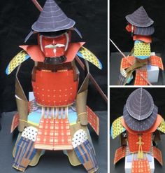 Maeda Toshimasu`s Samurai Armor Paper Model - by Yonezawa   ==  Find the link to download this historic  free paper model at Papermau.