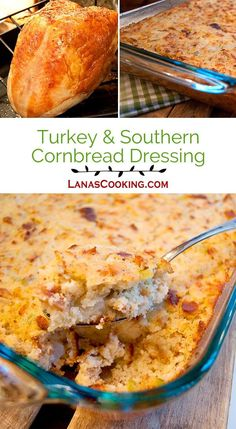 An authentic recipe for traditional Southern Cornbread Dressing and an easy turkey cooking method. Both are always a part of our Thanksgiving menu. Roast Beef Recipes, Turkey Recipes, Chicken Recipes, Thanksgiving Recipes, Holiday Recipes, Holiday Meals, Happy Thanksgiving, Christmas Recipes, Dinner Recipes