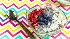 Chia vanilkový puding