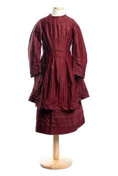 Girl's cotton dress, 1870s. From the collections of the Charleston Museum.