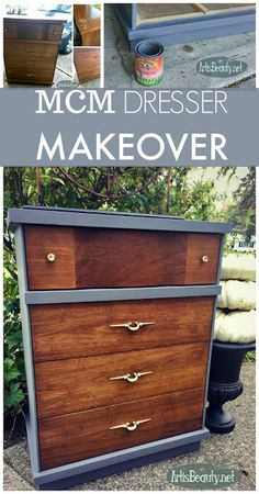 ART IS BEAUTY: Reviving a Mid Century Modern Dresser with Paint and TLC