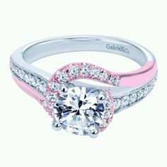 someone tell dustin i need a pink rose gold wrap to go with my white gold and diamond ring - Colored Wedding Rings
