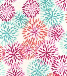 Snuggle Flannel Fabric-Madison Mums