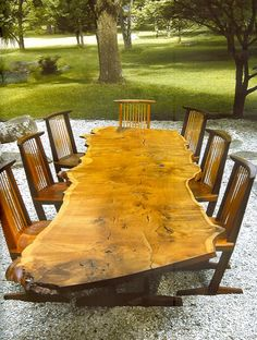 George Nakashima table and chairs