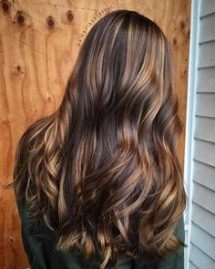 Long Brunette Hair With Highlights