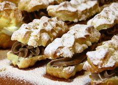 Eklerë me krem çokollatë Snack Recipes, Cooking Recipes, Snacks, Croation Recipes, Caramel, French Toast, Deserts, Chips, Sweets