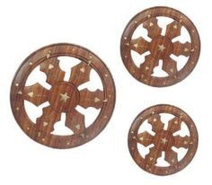 "3Pcs Decorative Round Handcrafted Wooden Key Hanger New by ibaexports. $59.99. SALE FOR - Set Of 3 Pieces; WEIGHT - 415 Gram ;MATERIAL - Good Quality Wood; PRODUCT - Wooden Key Hanger. 3Pcs Decorative Round Handcrafted Wooden Key Hanger New. Large Key Hanger Size:-Length - 7.4"" Inch; Width - 7.4"" Inch; *** Meduim Key Hanger Size:-Length - 6.2"" Inch; Width- 6.2"" Inch ; *** Small Key Hanger Size:-Length - 6"" Inch Width- 6"" Inch. This is a beautiful set of three handmade decorat..."