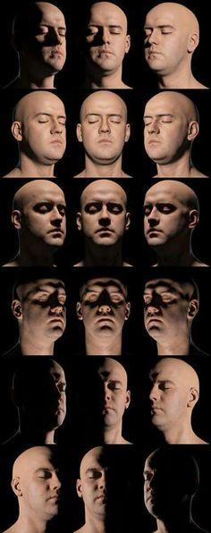 facial shadow tutorial chart
