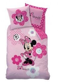 Disney Minnie Mouse dekbedovertrek Bloemen roze