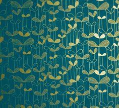 "Carta da parati ""Saplings"" turchese e oro di MissPrint (rotoli da 52cm x 10m £59,95)"