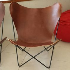 Muuto leather butterfly chair