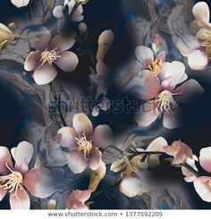 Cherry blossoms floral pattern on colored abstract floral background Elephant Tapestry, Beautiful Flowers Wallpapers, Flower Wallpaper, Background Images, Digital Prints, Abstract, Creative, Illustration, Floral