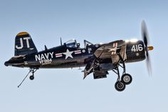 The Vought F4U Corsair was an American fighter aircraft that saw service primarily in World War II and the Korean War. From the first prototype delivery to the U.S. Navy in 1940, to final delivery in 1953 to the French, 12,571 F4U Corsairs were manufactured by Vought, in 16 separate models, in the longest production run of any piston-engined fighter in U.S. history (1942–53).