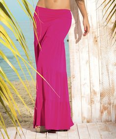 Loving this Fuchsia Tiered Maxi Skirt on #zulily! #zulilyfinds